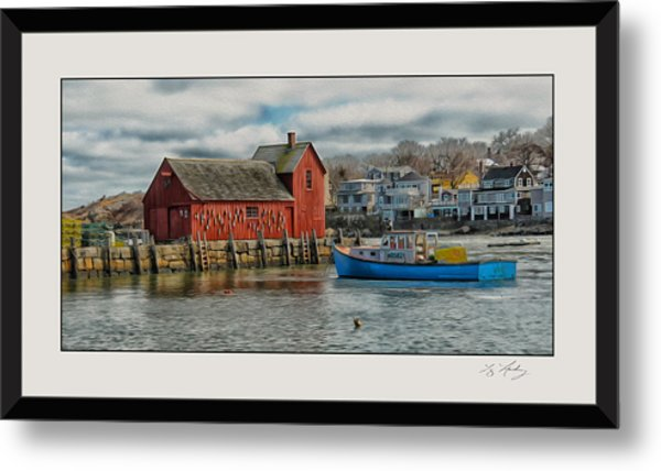 Motif #1 Watches Over The Amie V3 Metal Print by Liz Mackney