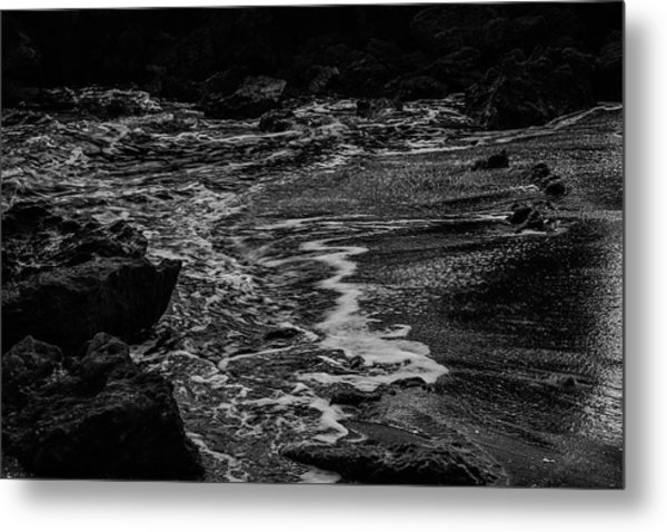 Motion In Black And White Metal Print
