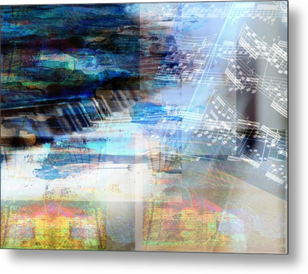 Motivational Piano Metal Print