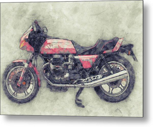 Moto Guzzi Le Mans 1 - Sports Bike - 1976 - Motorcycle Poster - Automotive Art Metal Print