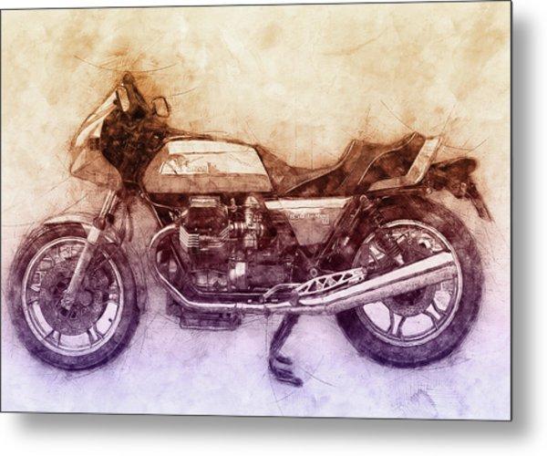 Moto Guzzi Le Mans 2 - Sports Bike - 1976 - Motorcycle Poster - Automotive Art Metal Print