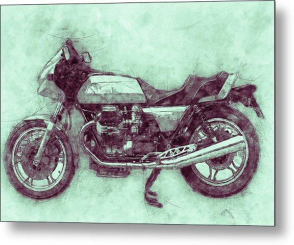 Moto Guzzi Le Mans 3 - Sports Bike - 1976 - Motorcycle Poster - Automotive Art Metal Print