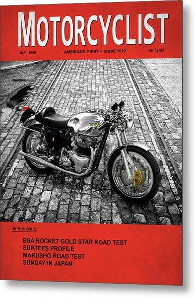 Motorcycle Magazine Bsa Rocket 1965 Metal Print