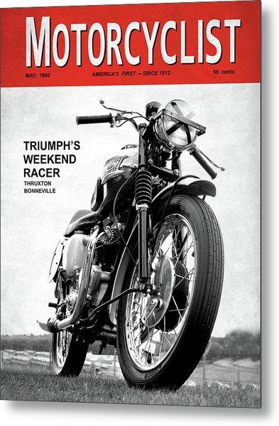 Motorcycle Magazine Weekend Racer 1960 Metal Print