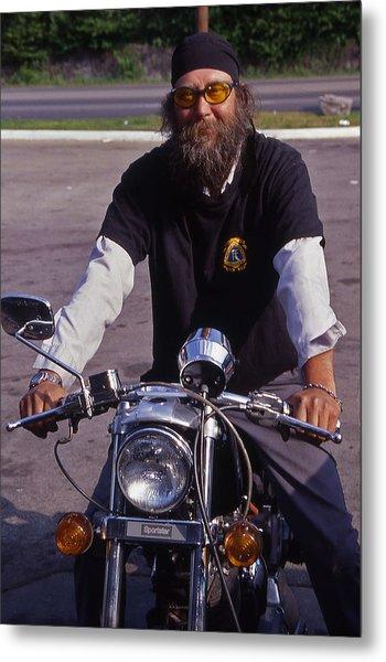 Motorcycle Minister Metal Print by Randy Muir
