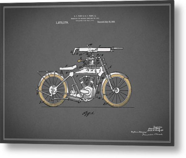 Motorcycle Patent 1918 Metal Print