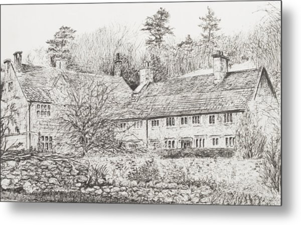Mottistone Hall  Isle Of Wight Metal Print