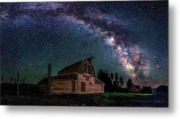 Moulton Barn Milky Way Metal Print