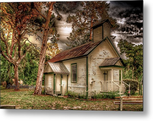 Moultrie Church At Dusk Metal Print