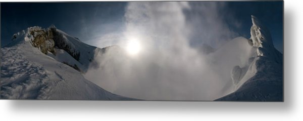 Mount Baker Summit Crater Metal Print by Alasdair Turner