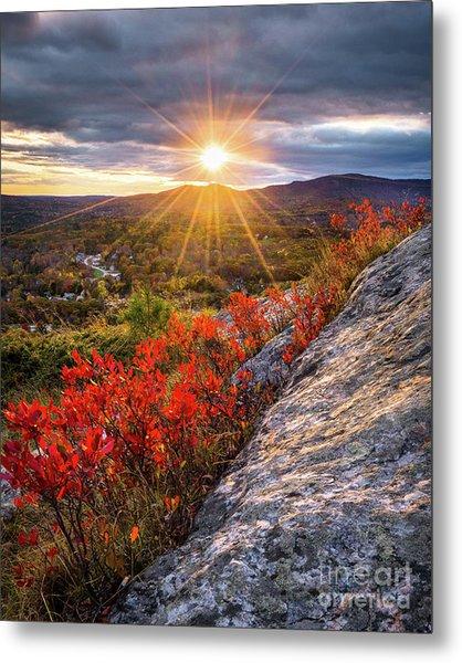 Mount Battie Sunset Metal Print
