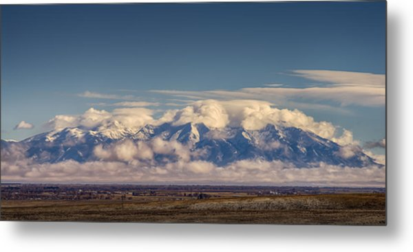 Mount Blanca With Skirt And Hat Metal Print