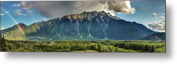 Metal Print featuring the photograph Mount Currie In The Enchanting Pemberton Valley With Double Rainbow by Pierre Leclerc Photography