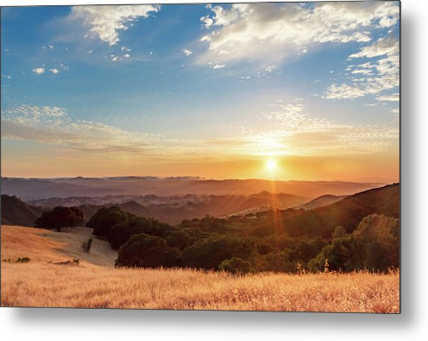 Mount Diablo Sunset Metal Print