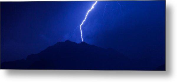Mount Franklin Lightning Metal Print