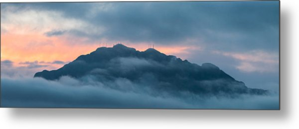 Mount Franklin Stormy Winter Sunset Pano Metal Print