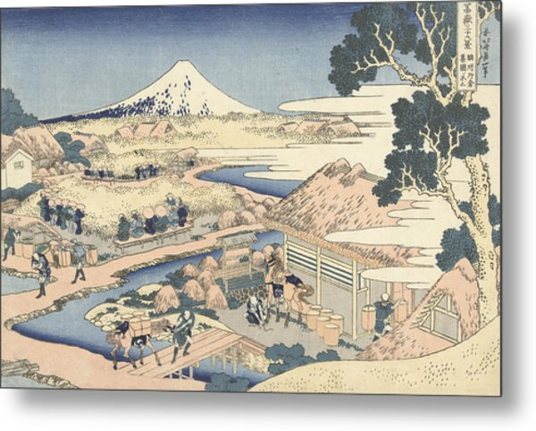 Mount Fuji From Katakura Tea Garden Metal Print
