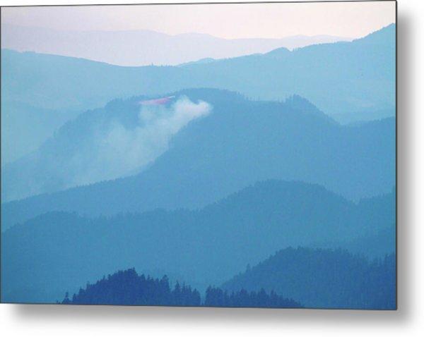 Mount Hagan Wildfire And Retardant Plane Metal Print