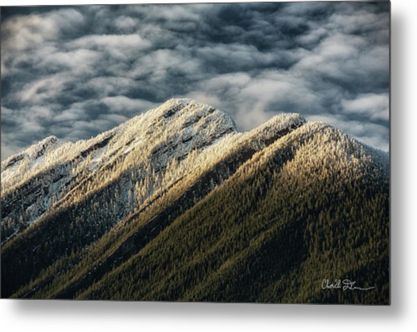 Mount Higgins Clouds Metal Print