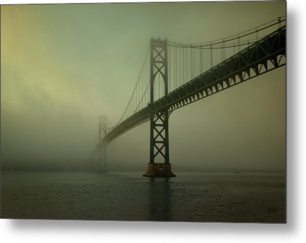Mount Hope Bridge Metal Print