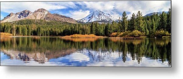 Mount Lassen Reflections Panorama Metal Print