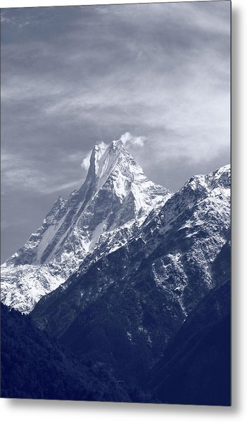 Mount Machapuchare, The Himalayas, Nepal Metal Print