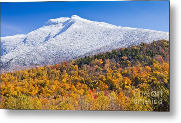 Mount Mansfield Seasonal Transition Metal Print