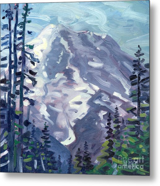 Mount Rainier From Sunrise Point Metal Print