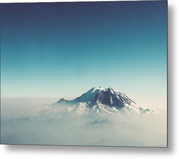An Aerial View Of Mount Rainier Metal Print