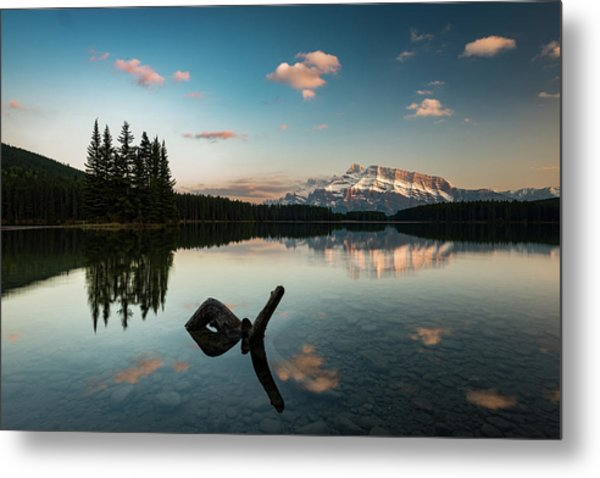 Mount Rundle And Two Jack Lake Metal Print