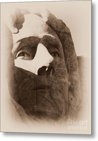Mount Rushmore Faces Jefferson Metal Print