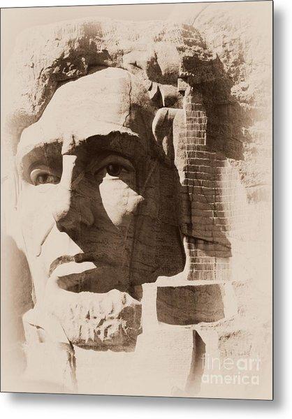 Mount Rushmore Faces Lincoln Metal Print