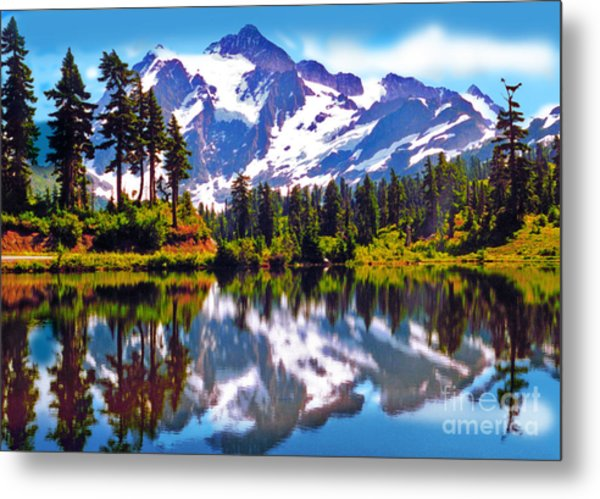 Mount Shuksan Washington Metal Print