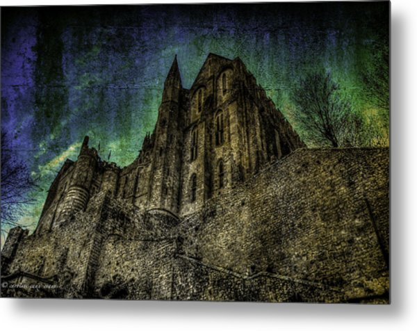 Mount St Michael Unreal Metal Print