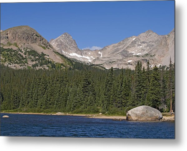 Mount Toll At Center Left From Brainard Lake In The Indian Peaks Wilderness Colorado Metal Print