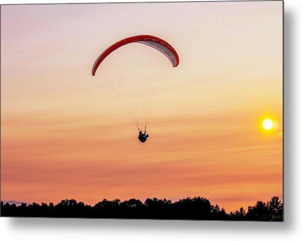 Mount Tom Parachute Metal Print
