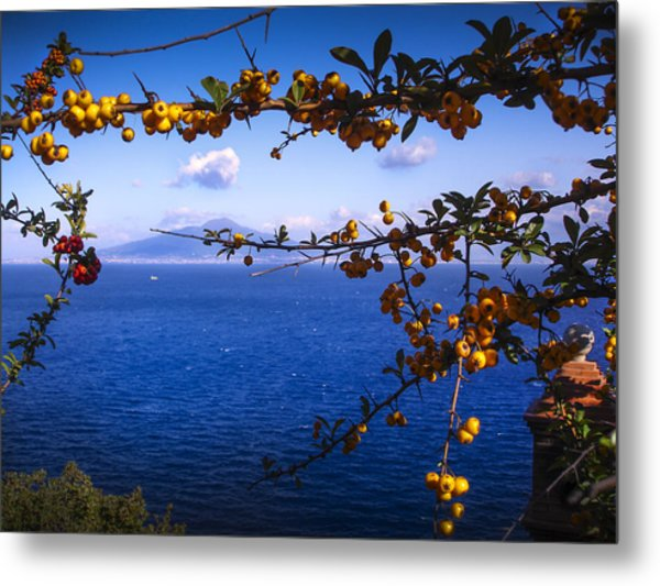 Mount Vesuvius From Sorrento Metal Print