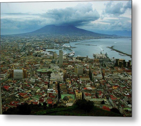 Mount Vesuvius Naples It Metal Print