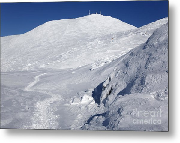 Mount Washington - White Mountain New Hampshire Usa Winter Metal Print