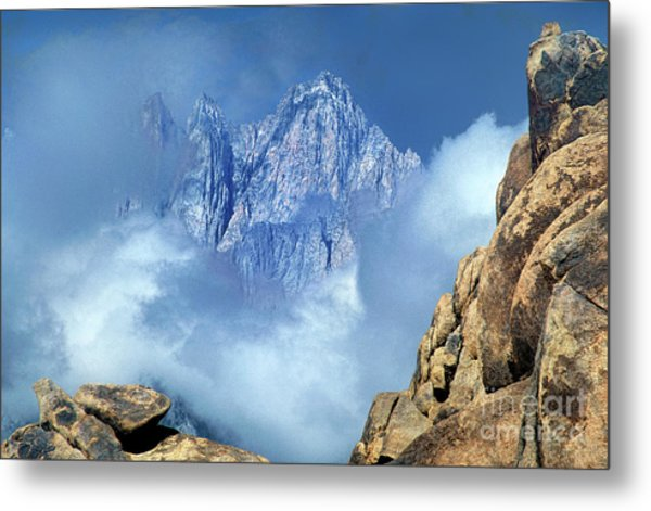 Mount Whitney Clearing Storm Eastern Sierras California Metal Print