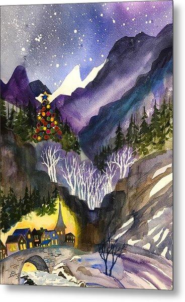 Mountain Christmas Metal Print