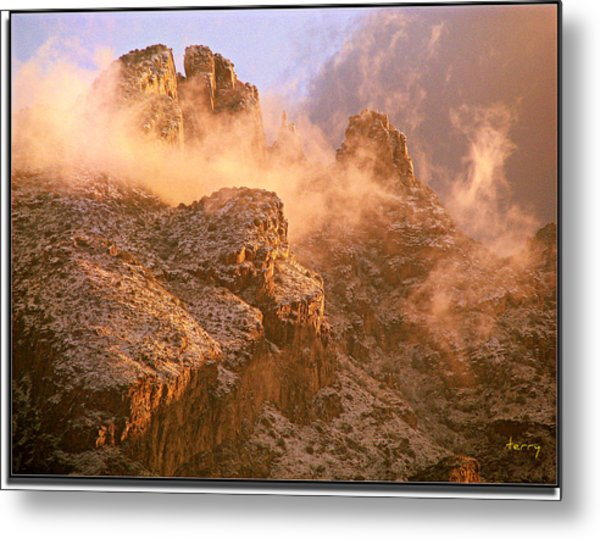 Mountain Dusting Metal Print