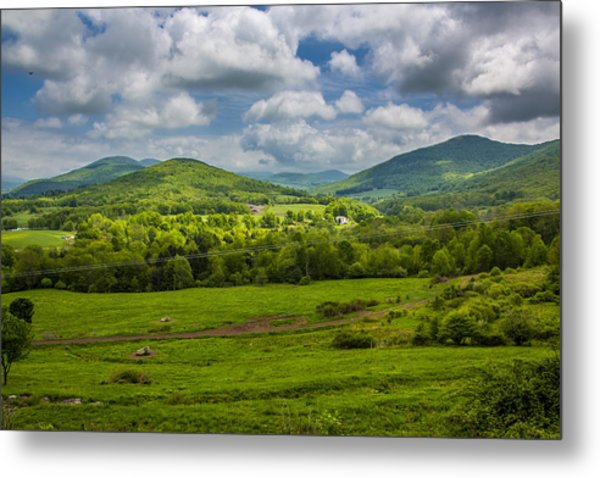 Mountain Field Of Greens Metal Print