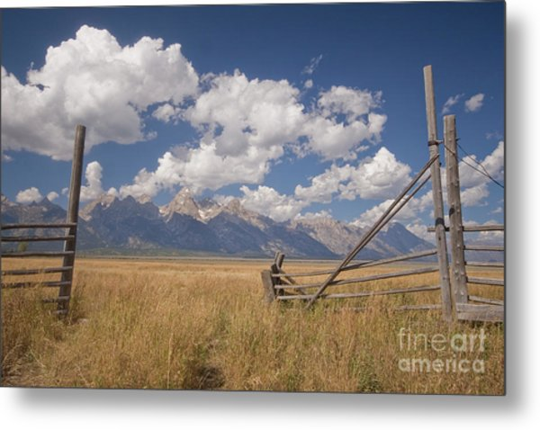 Mountain Gate Metal Print