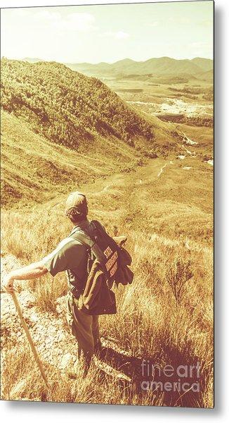Mountain Hiking Australia Metal Print