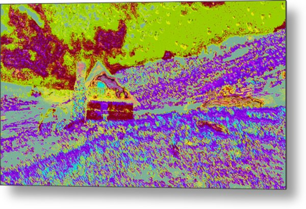 Mountain House Ddd4 Metal Print by Modified Image