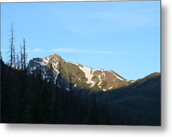 Mountain In Rocky Mountian Np Co Metal Print