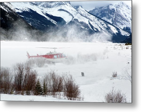 Metal Print featuring the photograph Mountain Landing by David Buhler