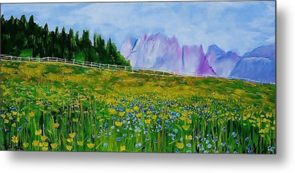 Mountain Meadow Wildflowers Metal Print