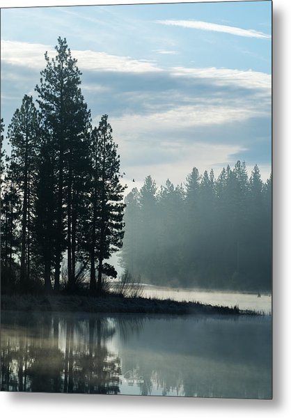 Mountain Meadows Reservoir At Dawn Metal Print